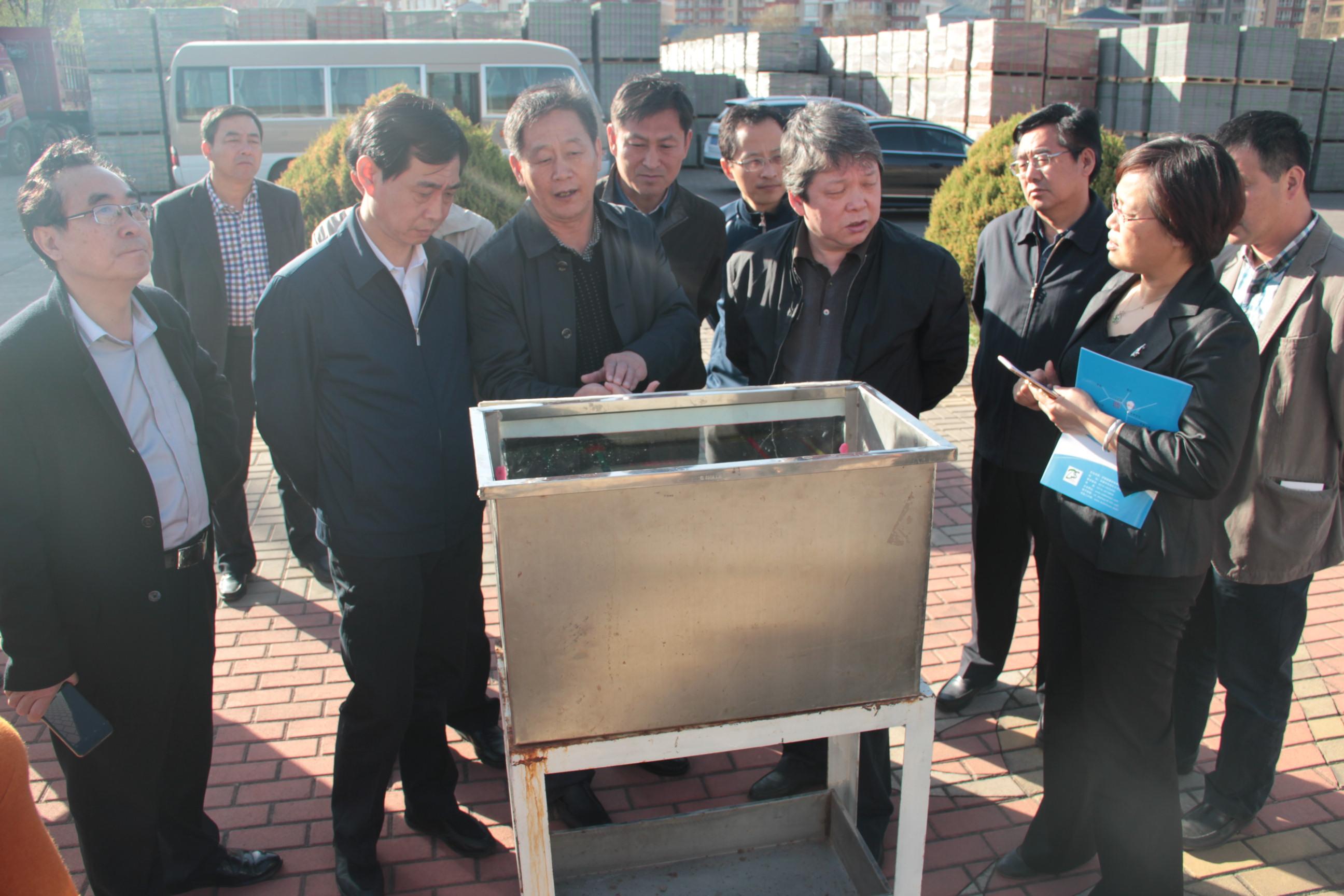 2016北京东城区领导来公司考察观看透水试验