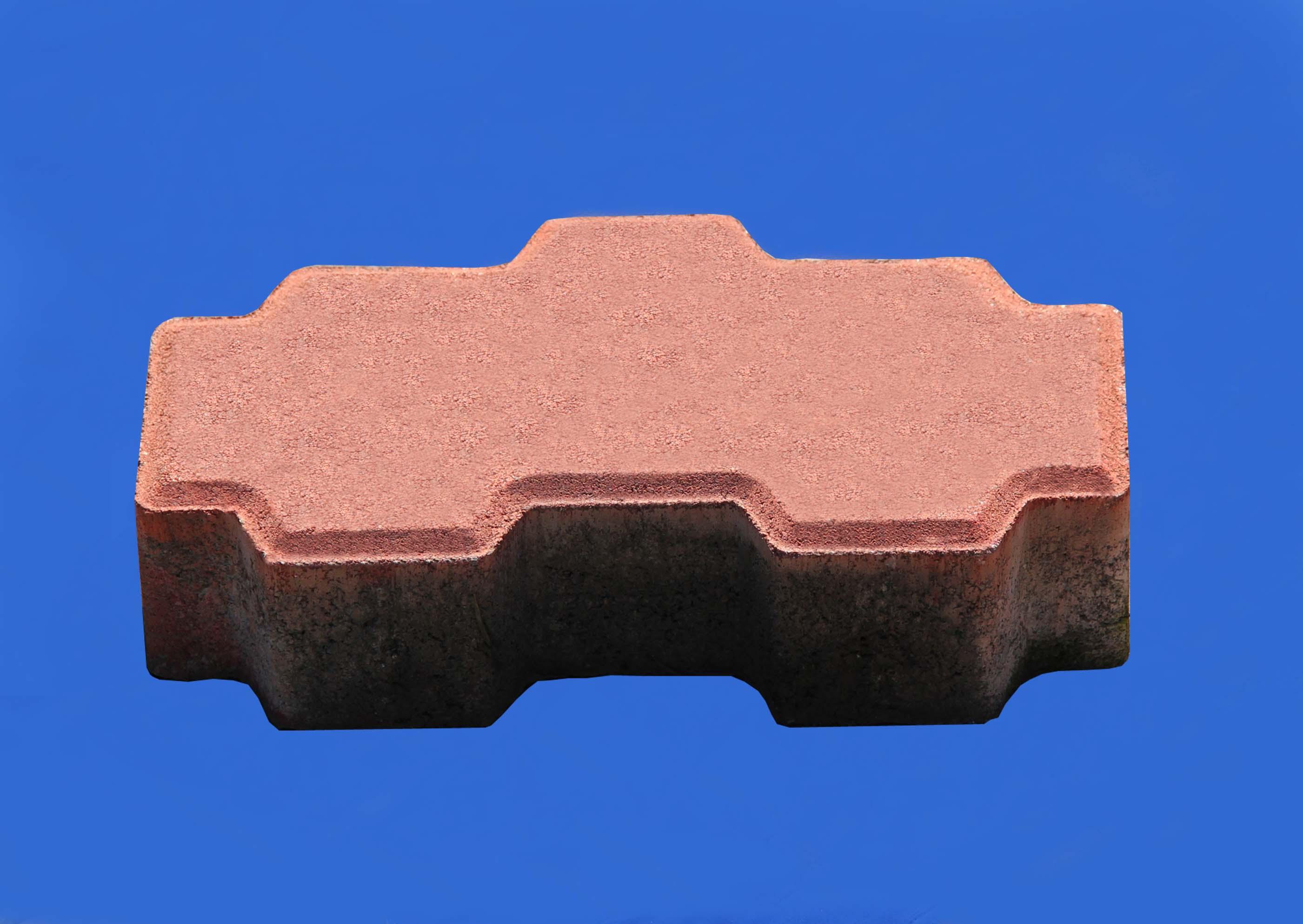 彩色路面磚系之列紅色互鎖磚