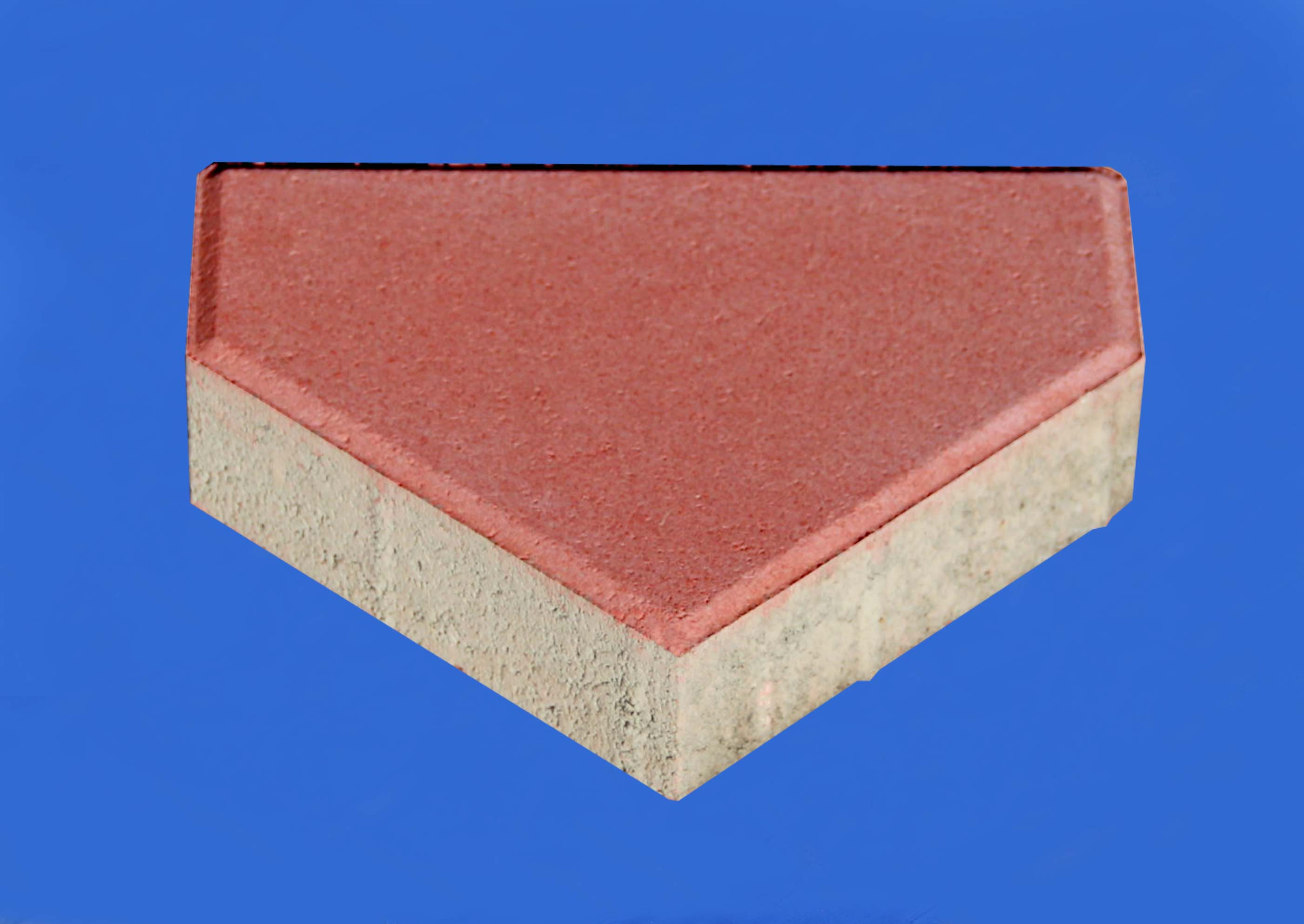 透水砖系列之红色透水箭头砖