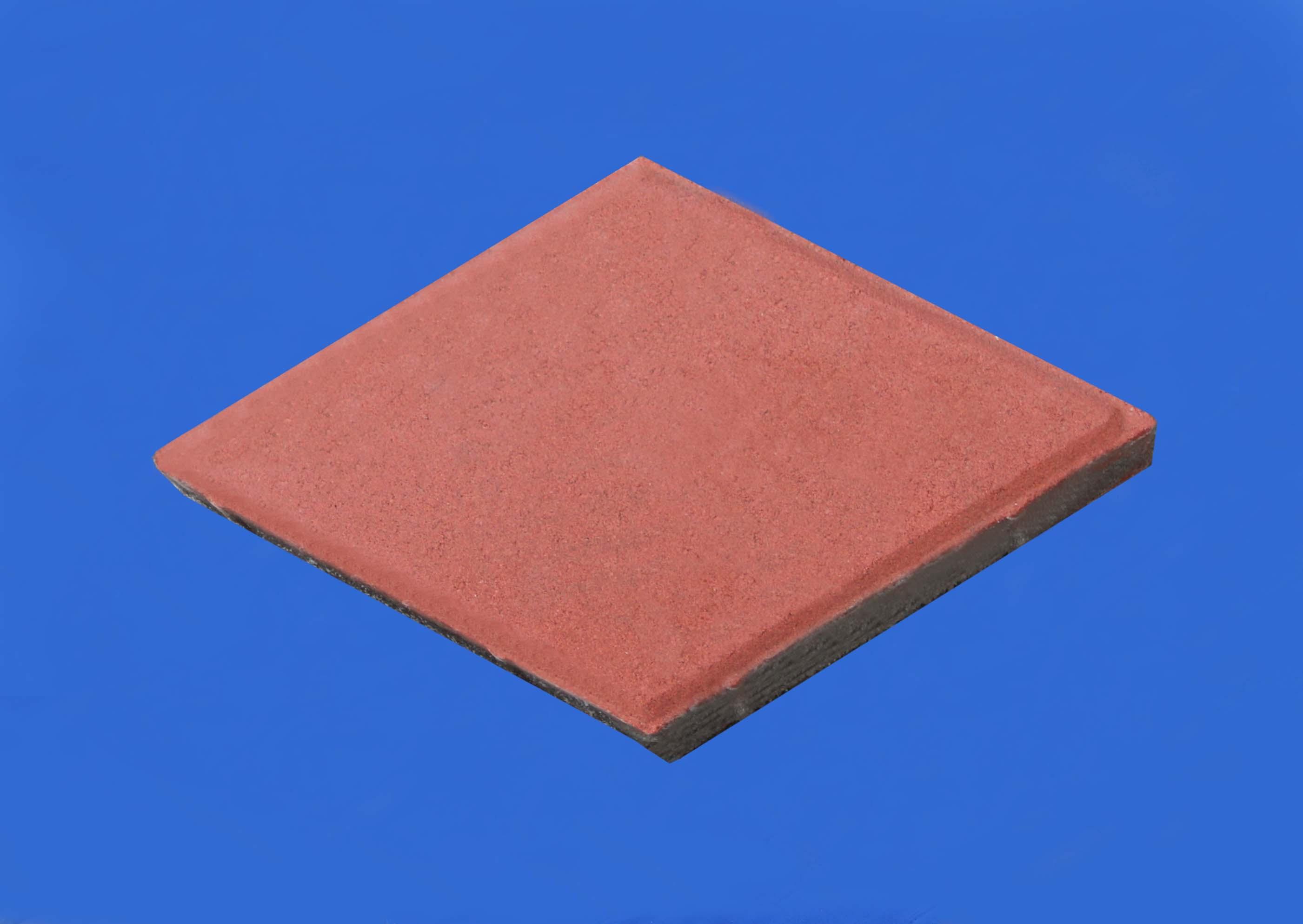 彩色路面磚系列之紅色菱形磚