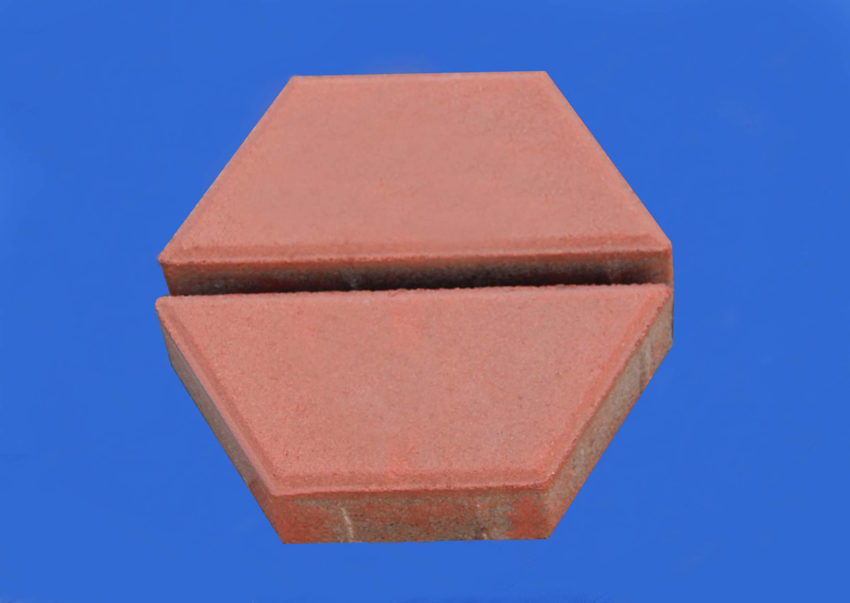 彩色路面磚系列之紅色梯形磚