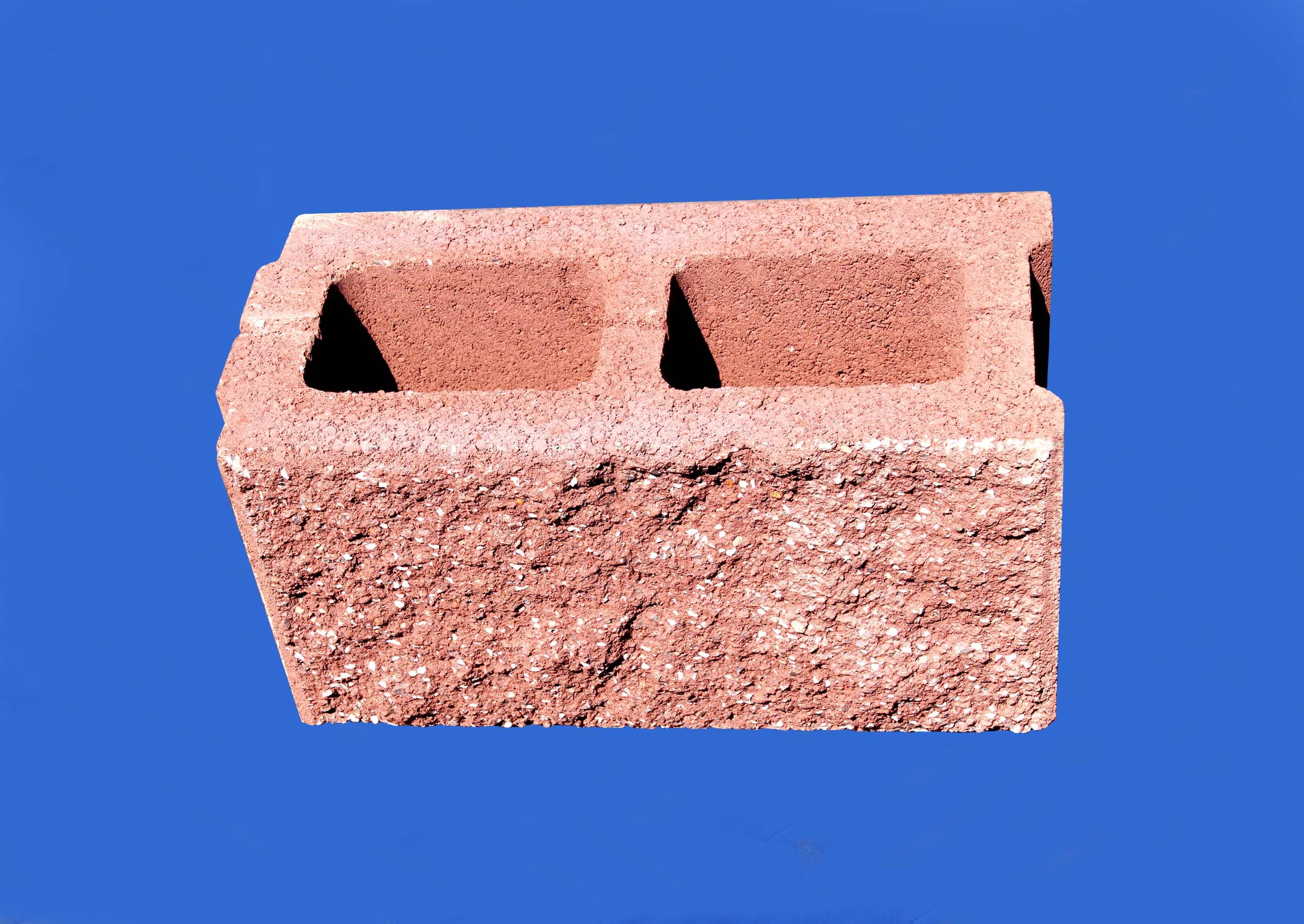建筑砌块系列之红色190劈裂砌块