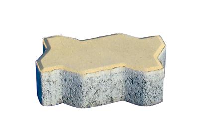 透水磚系列之黃色透水波浪磚