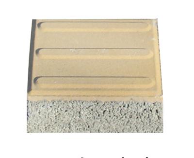 透水磚系列之黃色透水小導盲磚